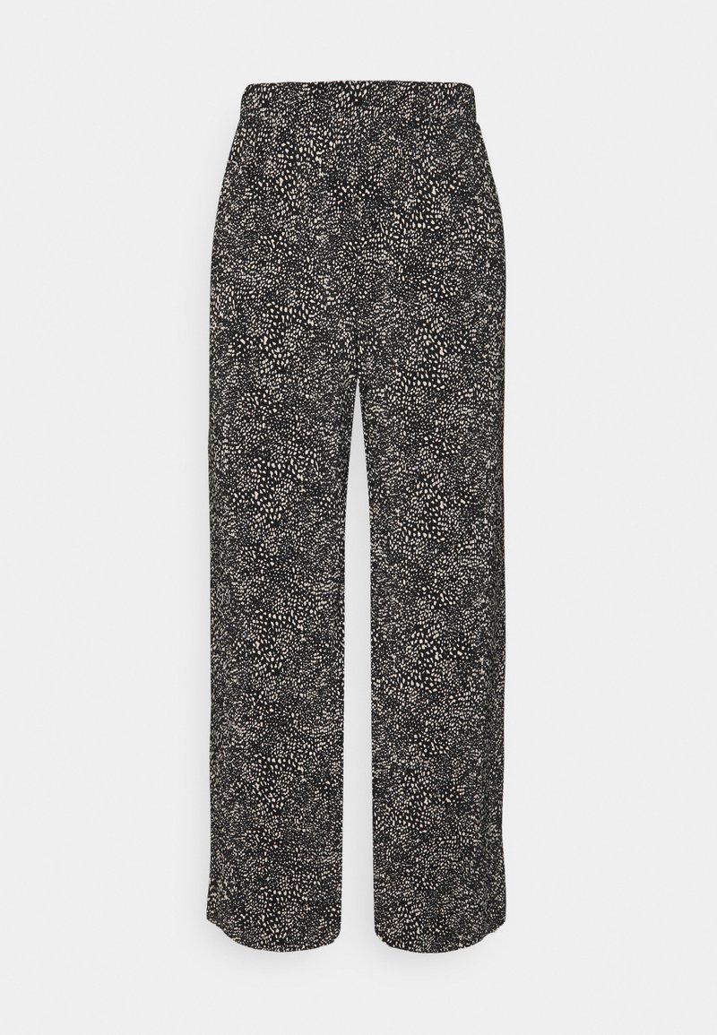 ONLY - ONLTAMMIE PLISSE PANT - Bukser - black/white