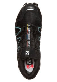 Salomon - SPEEDCROSS 4 GTX - Trail running shoes - black/metallic bubble blue - 4