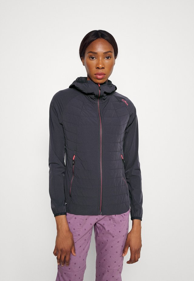 WOMAN FIX HOOD JACKET - Giacca outdoor - antracite