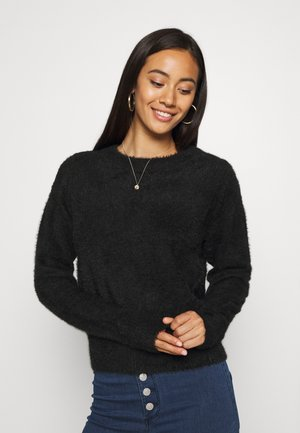 NMJESS O NECK - Sweter - black