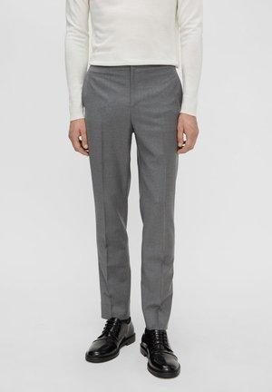 SASHA FLANNEL - Suit trousers - grey melange