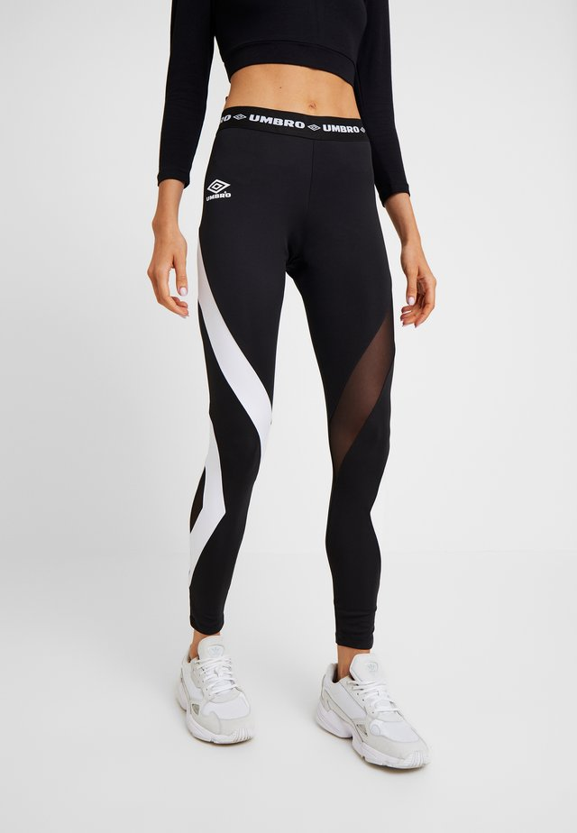 Leggings - Trousers - stretch limo/bright white