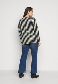 MY TRUE ME TOM TAILOR - Long sleeved top - navy yellow white stripe - 2