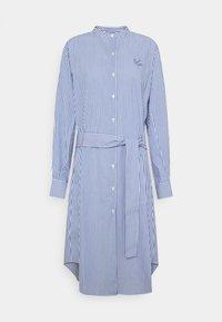 Maison Labiche - DRESS GOOD VIBE - Shirt dress - white/blue - 6