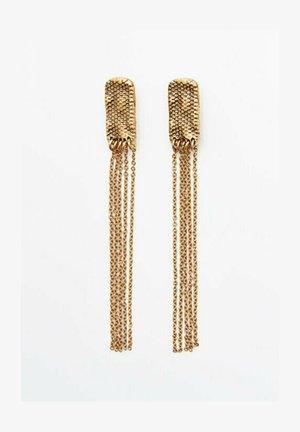 MIT STEIN UND WELLENDETAIL - Earrings - gold