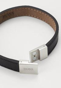 BOSS - ESSENTIALS - Bracciale - black/silver-coloured