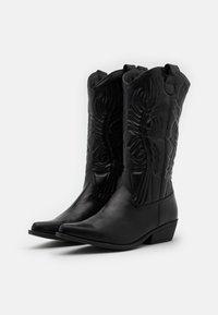 Rubi Shoes by Cotton On - DEVON TALL WESTERN BOOT - Biker-/cowboynilkkurit - black - 1