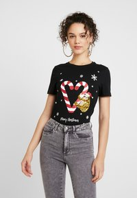 ONLY - ONLCHRISTMAS BLING BOX - T-shirts print - black - 0