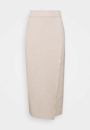 VIOLIVINJA MIDI WRAP SKIRT - Wrap skirt - natural melange