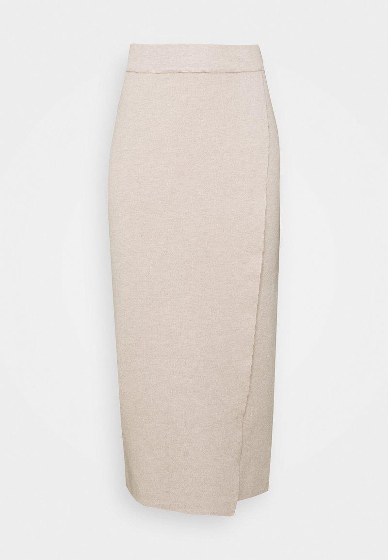Vila - VIOLIVINJA MIDI WRAP SKIRT - Wrap skirt - natural melange