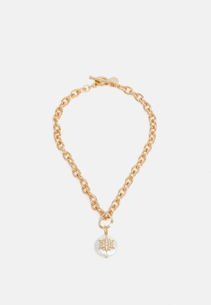 THICK CHAIN WITH STAR PENDANT - Necklace - cream/gold-coloured