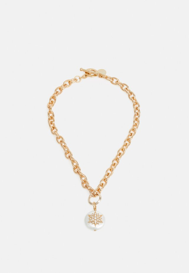 THICK CHAIN WITH STAR PENDANT - Collar - cream/gold-coloured