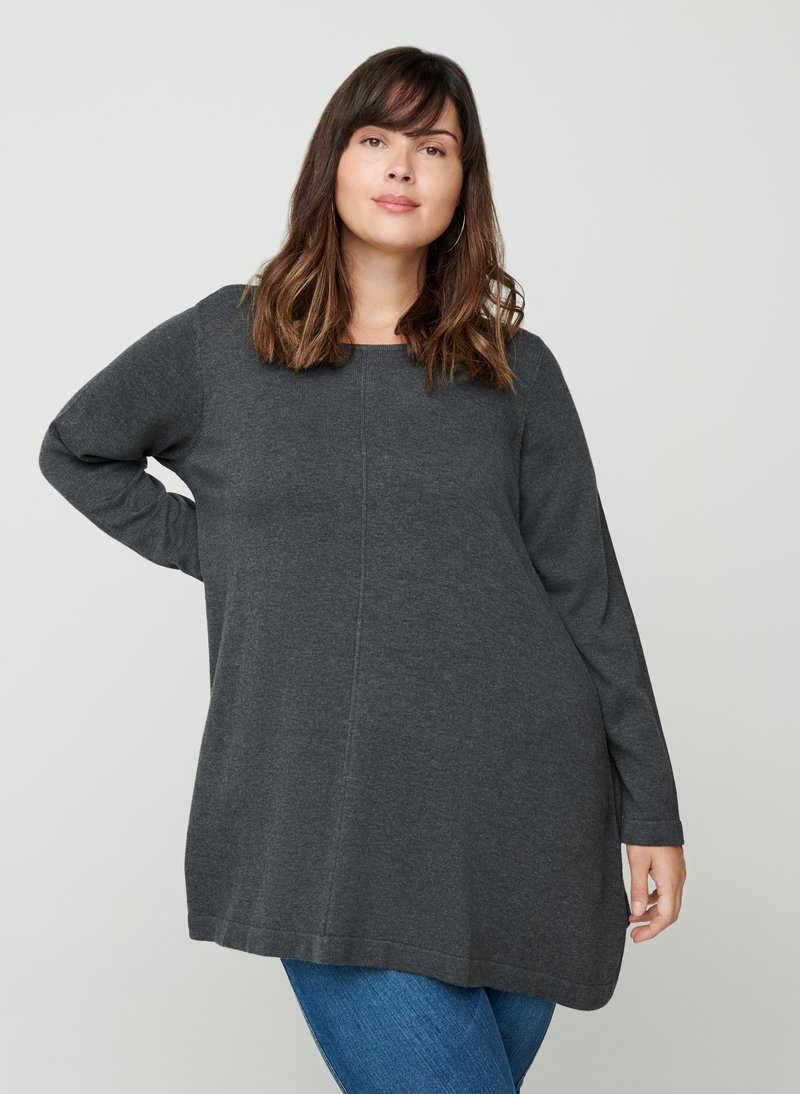 Zizzi - MIT A-PASSFORM - Jumper - dark grey
