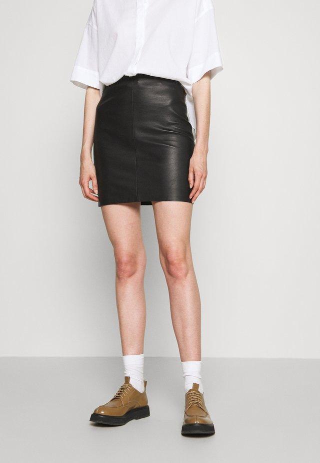 GABRIELLE SKIRT - Mini skirt - black
