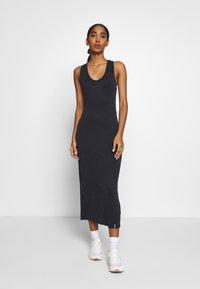 Superdry - ARIZONA CROSS BACK MIDI DRESS - Maxi dress - black - 0