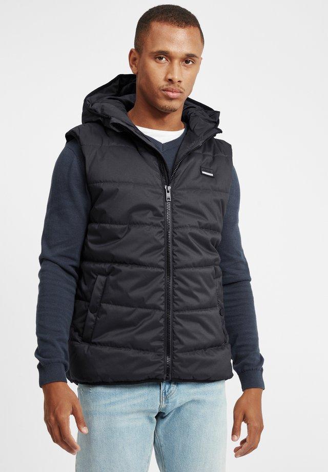 ATSU - Waistcoat - black