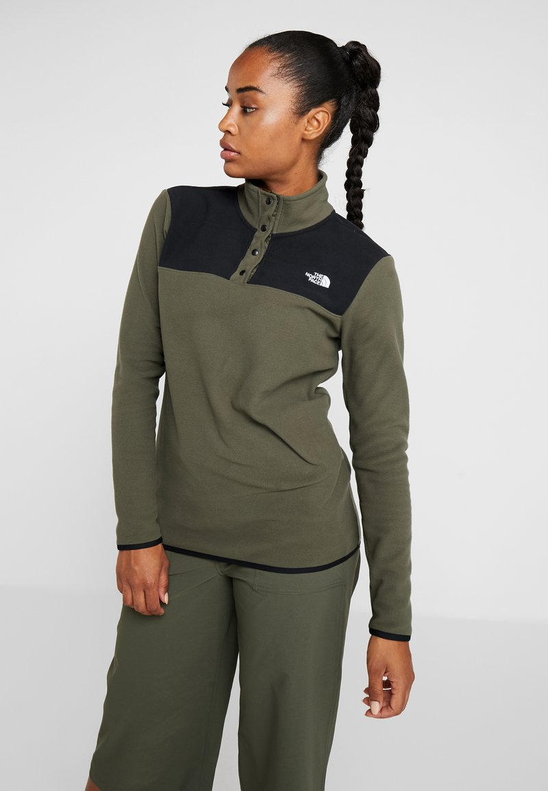 The North Face - GLACIER SNAP NECK  - Felpa in pile - new taupe green/black