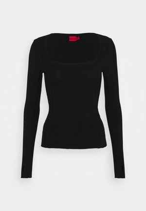 STEFFANY - Strickpullover - black