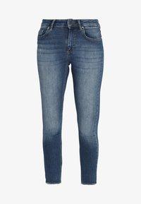 ONLY - ONLBLUSH MID ANKLE RAW - Jeans Skinny Fit - dark blue denim - 3