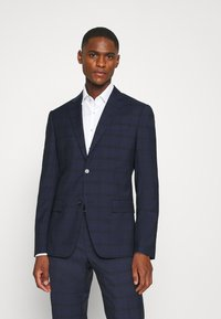 Calvin Klein Tailored - TELA CHECK NATURAL SUIT - Traje - blue - 2