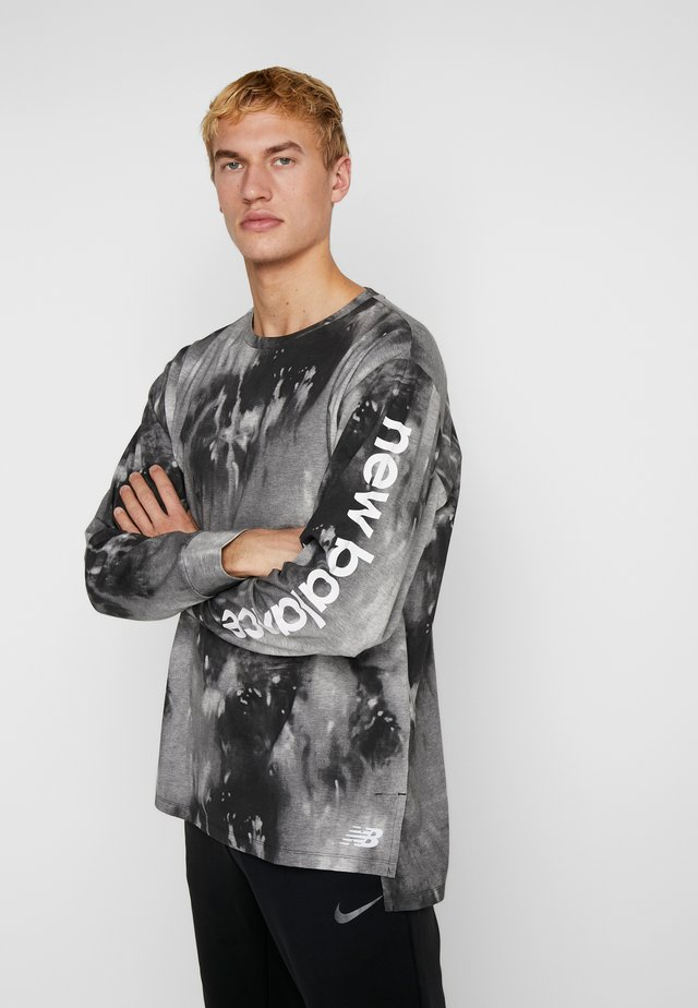 PRINTED LONG SLEEVE HEATHERTECH - Funkční triko - black multi