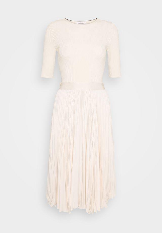 PLEATED SKIRT MIDI DRESS - Day dress - white smoke