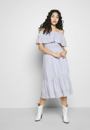 BRODERIE TRIED FRILL DRESS - Denní šaty - blue