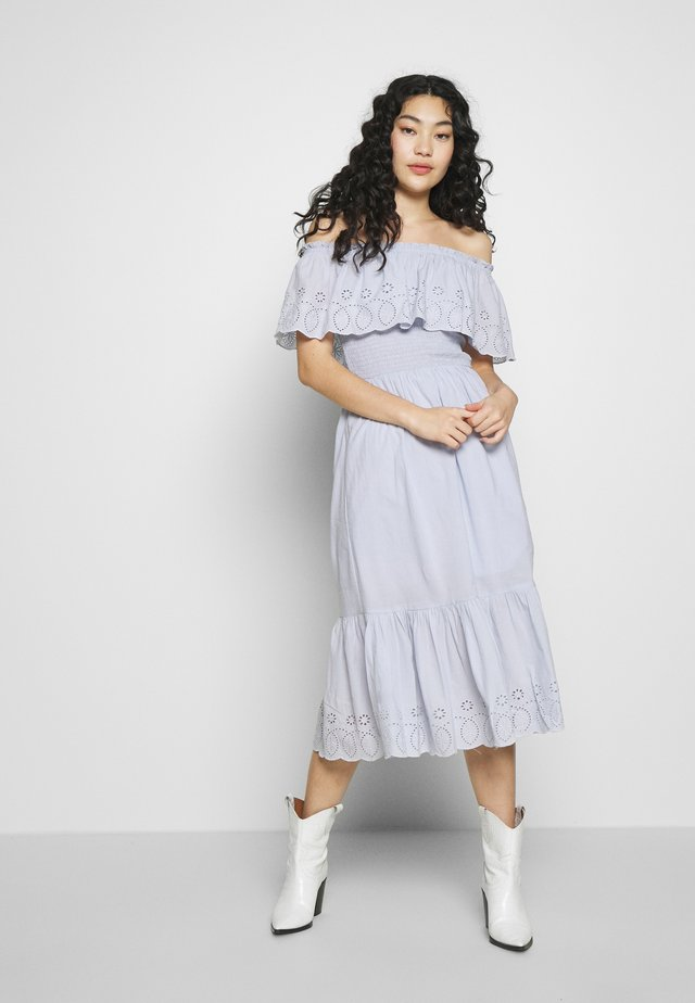 BRODERIE TRIED FRILL DRESS - Day dress - blue