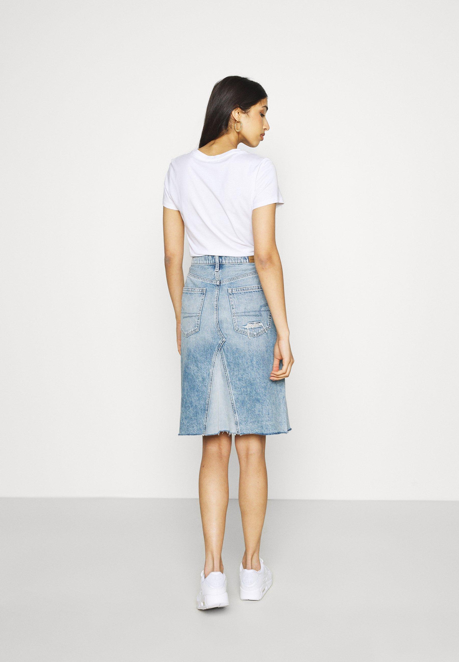 Women MIDI SKIRT - Denim skirt