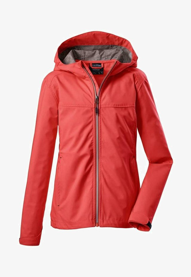 Soft shell jacket - coral
