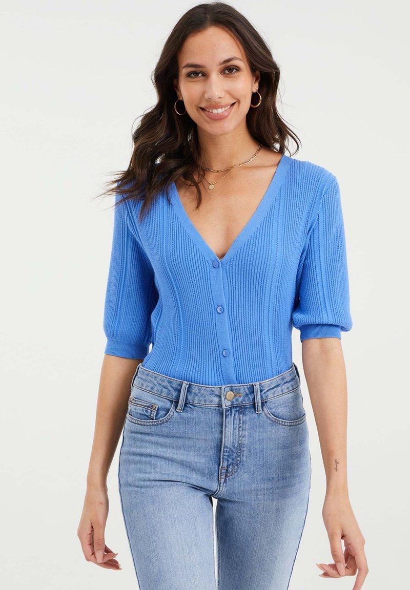 WE Fashion - Cardigan - ice blue