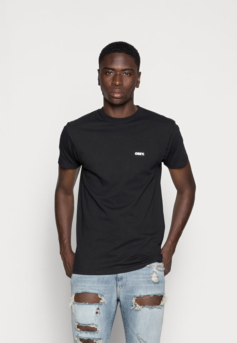 Obey Clothing - BUILT TO LAST - Printtipaita - black