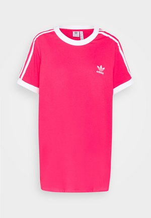 TEE - T-shirt con stampa - power pink/white