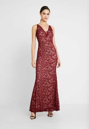 LACE MAXI DRESS - Occasion wear - wine