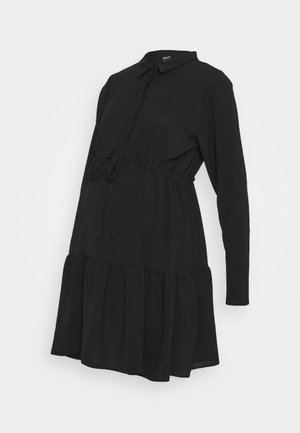 PLAIN DRESS - Shirt dress - black