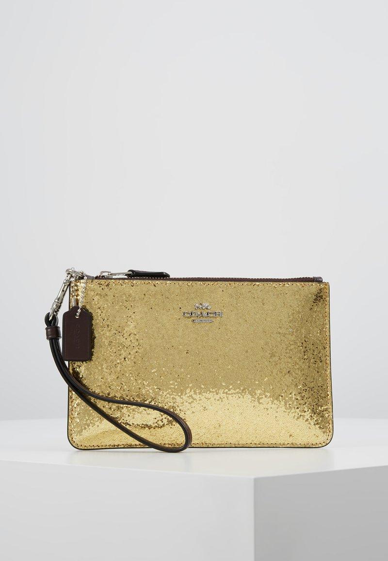 Coach - BOX PROGRAM GLITTER SMALL WRISTLET - Pochette - gold