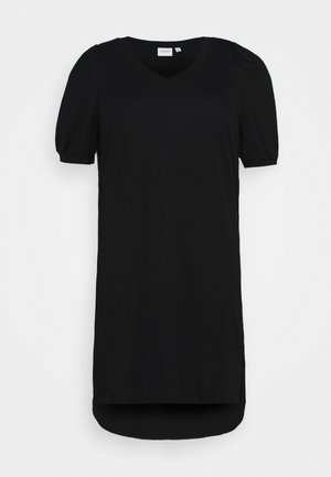 JRCHASE HIGH LOW DRESS - Pouzdrové šaty - black
