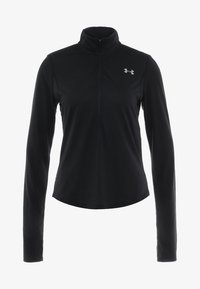 Under Armour - STREAKER HALF ZIP - Funktionstrøjer - black/black - 5