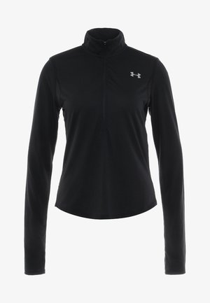 STREAKER HALF ZIP - Sports shirt - black/black