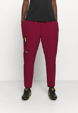PANT - Tracksuit bottoms - dark beetroot/reflective silver