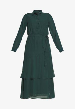 TIERED SHIRT DRESS - Robe d'été - green