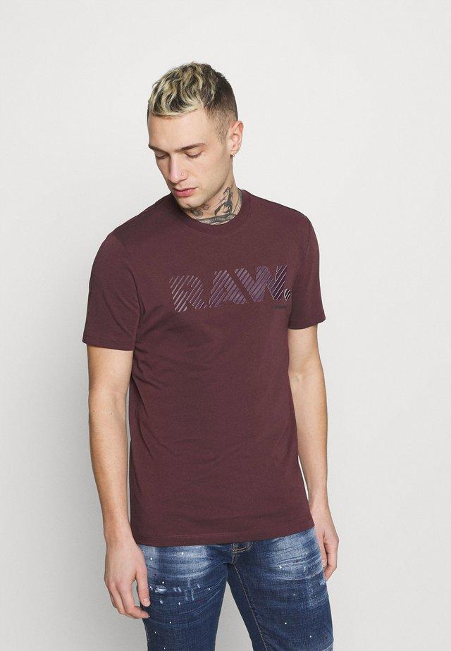 3D RAW LOGO SLIM  - Print T-shirt - dark fig