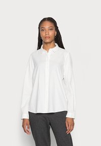 Marc O'Polo - BLOUSE LONG SLEEVED STYLE - Button-down blouse - white sand - 0