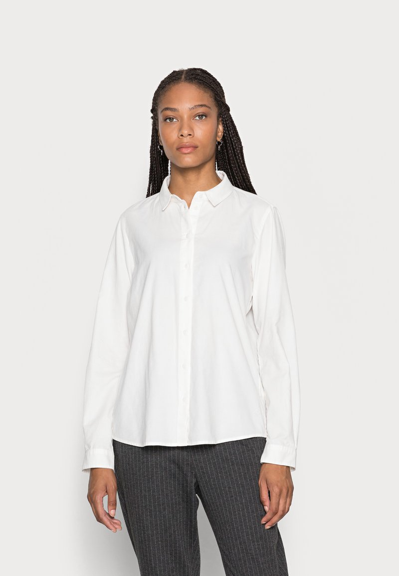 Marc O'Polo - BLOUSE LONG SLEEVED STYLE - Button-down blouse - white sand