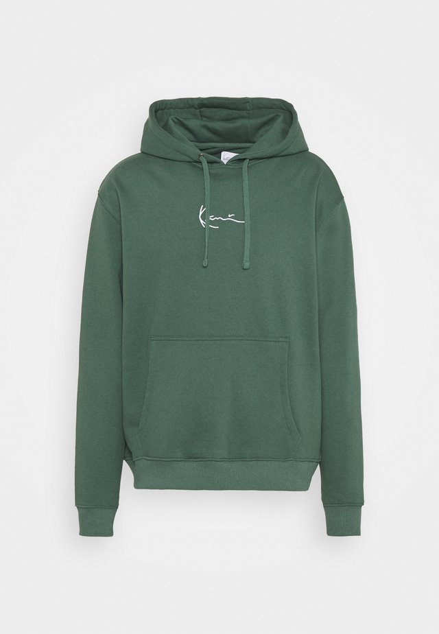 UNISEX SMALL SIGNATURE HOODY  - Sweatshirt - darkgreen