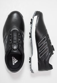 adidas Golf - CP TRAXION BOA - Golfové boty - core black/footwear white/silver metallic - 1