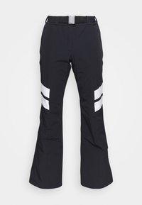 LADIES PANTS - Snow pants - black/white
