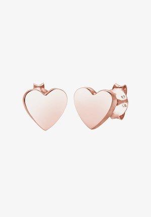 HEART - Náušnice - roségold