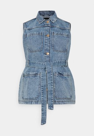 PCNAMIR TIE BELT VEST  - Liivi - medium blue denim
