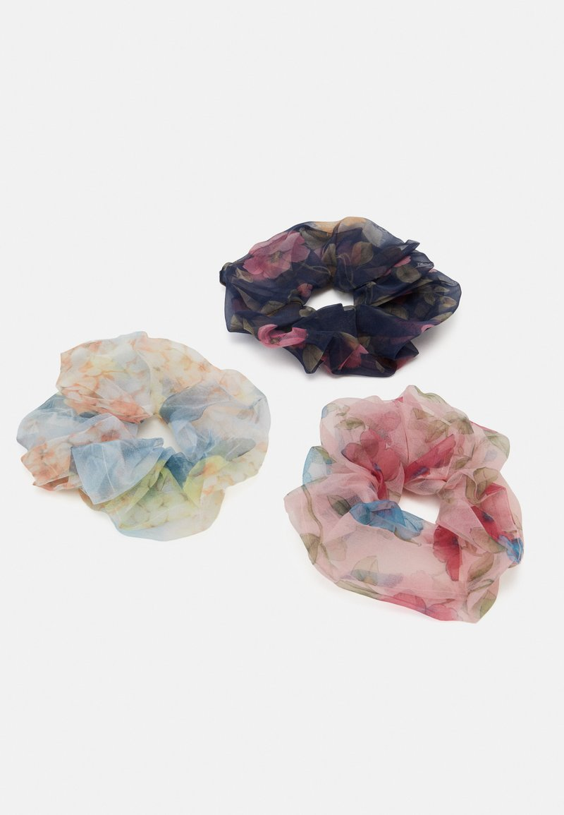 Pieces - OVERSIZED SCRUNCHIE 3 PACK - Hair Styling Accessory - navy blazer